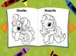 Книжка-раскраска с любимыми пони