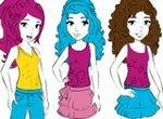 Лего Френдс: Раскрась девочек из Хартлейксити
