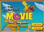 Голый Барт катается на скейте