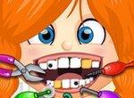 Капризная девочка у зубного врача