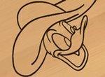 Дональд Дак: Художественная резьба