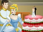 Украшаем свадебный торт Золушки