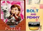 Пазл: Пенни и ее пес Вольт