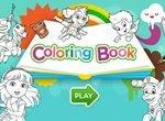 Книжка-раскраска с героями мультиков