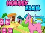 Уход за лошадкой на ферме