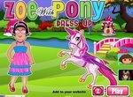 Одевалка: Зоя с Пони