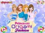 Одевалка прицесс Диснея в стиле оригами