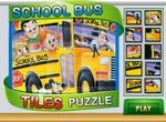 Пазл с маленьким школьным автобусом