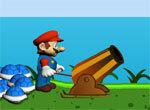 Сердитый Марио стреляет из пушки
