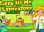 Уборка в химической лаборатории