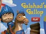 Галахад скачет на лошади