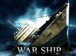 Военные корабли в  морском бою