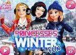 Зимние развлечения для принцесс
