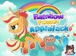 Радужный стиль пони Эпплджек