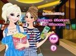 Сестры Анна и Эльза собираются в кино