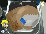 Моем посуду: Гора грязных тарелок