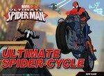 Спайдермен гоняет на мотоцикле