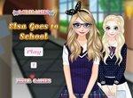 Одевалка: Эльза собирается в школу