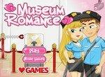 Поцелуи в музее для девочек