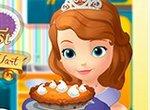 София Прекрасная готовит пирог из тыквы
