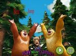 Медведи соседи прыгают по лесу