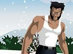 Росомаха катается на сноуборде