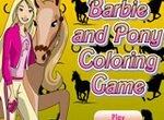 Раскраска: Барби и ее пони