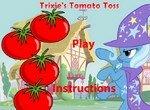 Трикси бегает от томатов