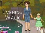 Мама и дочь на вечерней прогулке