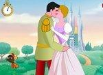 Принц целует принцессу Золушку