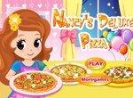 Нэнси готовит пиццу