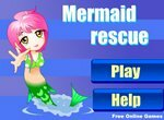 Спаси русалку от морских чудовищ