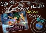 Раскраска Чип и Дейл: Команда Спасателей