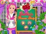 Барби в своем цветочном магазине