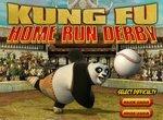 Панда Кунг фу играет в бейсбол