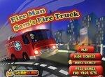 Пожарник Сэм на пожарной машине