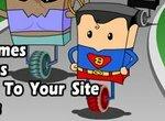 Игрушечный супермен участвует в гонках