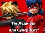 Тест для девочек: Ты Леди Баг или Супер Кот?