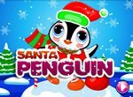 Наряди пингвина в Деда Мороза