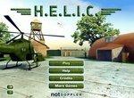 Военный вертолет на защите базы