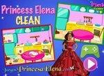 Принцесса Елена убирается на кухне