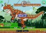 Механическая копия динозавра Карнотавра