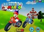 Дораэмон и Марио участвуют в гонках