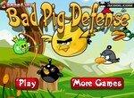 Плохие свиньи защищаются от злых птичек
