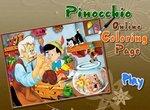 Раскраска: Мастер Джепетто и Пиноккио