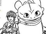 Раскраска с друзьями Иккингом и Беззубиком