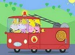 Пазл: Свинка Пеппа в пожарной машине