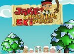 Пират Джейк катается на лыжах