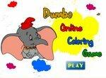 Раскраска: Летающий слон Дамбо