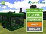 Парковка автобуса  на городских остановках 3D